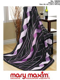 My favorite source for arts and crafts:  Ribbons Afghan Pattern