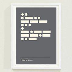 Personalised Morse Code Print