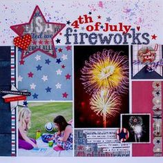 Project Ideas for Simple Stories - Stars and Stripes Collection - Cardstock Stickers - Fundamentals