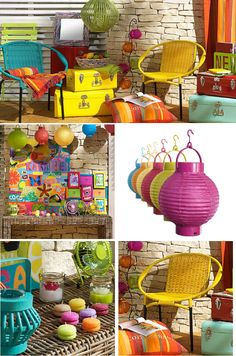 More top terrace trends 2012... Brilliant colors add to the character and charm of small outdoor lounging spaces
