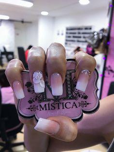Bling Nail Art, Bling Nails, Acrylic Nail Designs, Acrylic Nails, Hair And Nails, My Nails, Baby Boomer, Fabulous Nails, Cute Nails