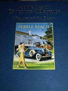 PEBBLE BEACH CONCOURS D'ELEGANCE ART OF POSTER 1950 2003 ROBERT T GREVLIN FORD