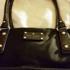 Kate Spade  Handbag Pre owned but excelent conditions , Kate Spade Naylon black bag , no rips or stains size  12 X 14  Strap 23' thanks kate spade Bags Shoulder Bags