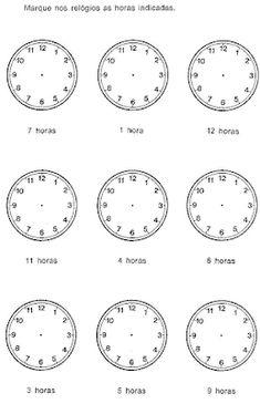 Pedagógiccos: Atividades sobre medida de tempo English Grammar, Mathematics, Learning, Homework, Nova, Clock, Lesson Plans For Elementary, Writing Activities, 100 Chart