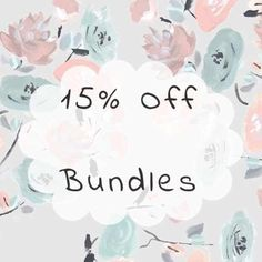 15% off Bundles Bundles are always 15% off 2 or more items! Feel free to make an offer on any item! And as always..Same day shipping! Other