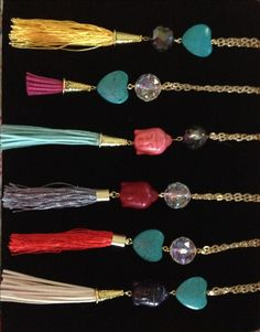 Crystal & Tassel Long Chic Necklace