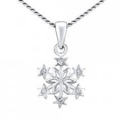 Stříbrný náhrdelník sněhová vločka Swarovski, Silver, Jewelry, Fashion, Moda, Jewlery, Jewerly, Fashion Styles, Schmuck