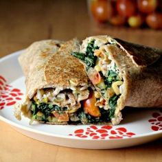 Vegetable and rice burritos with quesadilla cheese. #foodgawker