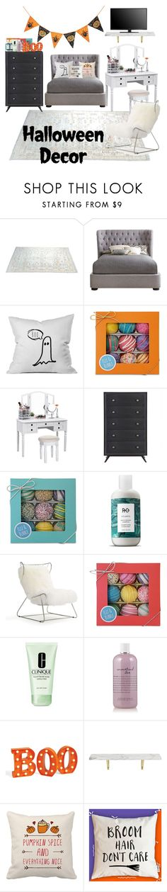 """""""HALLOWEEN DECOR"""" by brotheb ❤ liked on Polyvore featuring interior, interiors, interior design, home, home decor, interior decorating, Fizz & Bubble, R+Co, Mitchell Gold + Bob Williams and Clinique"""