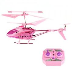 360 Degree Position 3.5 Channels Remote Control Rechargeable Helicopter Model - Pink