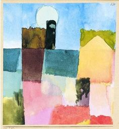 Paul Klee 'Mondaufgang von St Germain' Moonrise at St. Germain (Tunis) 1915 More