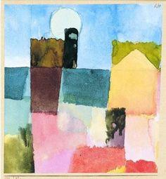 Paul Klee 'Mondaufgang von St Germain' Moonrise at St. Germain (Tunis)  1915