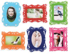 Whimsy magnetic Photo Frames for spicing up the old fridge!