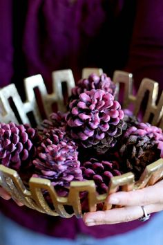 Make Your Own Wax-Dipped Cinnamon Pinecone Firestarters (Hello Glow) Easy Christmas Crafts, Noel Christmas, Simple Christmas, Christmas Baking, Pinecone Firestarters, Homemade Fire Starters, Purple Christmas Decorations, Holiday Decor, Christmas Colors