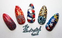 theillustratednail:    Peter Pilotto Spring/Summer '12 catwalk inspired nail set for Joyce exhibition, Hong Kong.