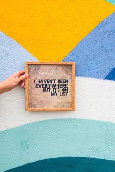 Leah Flores Everywhere Framed Wall Art from http://DENYDesigns.com is perfect for travel lovers who wants to fill their wanderlust at home.