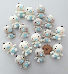 Babies: white vs brown Crochet amigurumi