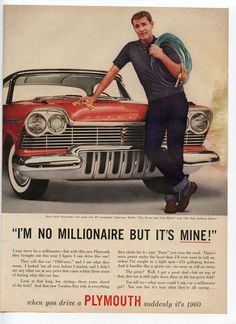 Vintage Plymouth Ad Late 1956 for the new '57 models.