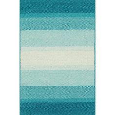 Alexander Home Indoor/ Outdoor Braided Blue Rug (5'0 x 7'6) (Blue (5'0 x 7'6)), Size 5' x 7'6 (Plastic, Stripe)