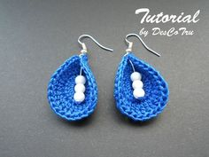 Crochet Earrings with Beads Tutorial – Do It Yourself – Make your own earrings – Crochet earrings tutorial under 5 - Gift for her
