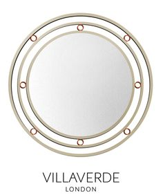MONDO Contemporary Mirror designed by Claudio Marco exclusively for VILLAVERDE - Available in various sizes and metal finishes