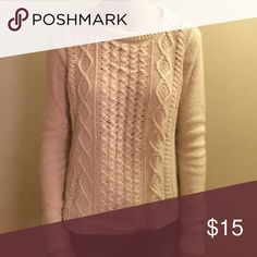 Cream Cable Knit J. Crew Sweater Cozy cable knit sweater from J. Crew Factory. Hardly worn! J. Crew Factory Sweaters