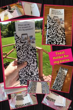 JW tract holder for my purse. JW.ORG DIY with contact paper and 1 piece of stock card paper. Sept. 6, 2014