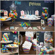 Nancy O'Dell's Rainbow Art Party :: Featured Party   The TomKat Studio
