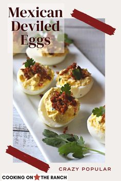 Easy Mexican Deviled Eggs Recipe made with Dijon and Sherry Vinegar and Chorizo. A delicious combo for a very popular appetizer. Easy recipe and a spicy version of the Southern classic. Think fancy next time you're making deviled eggs, and give this loaded with flavor version a try for your next pot luck party. Perfect Mexican appetizer recipe for Cinco de Mayo Shrimp Deviled Eggs, Popular Appetizers, Appetizers For Party, Appetizer Recipes, Mexican Appetizers, Delicious Appetizers, Party Recipes, Party Snacks, Cinco De Mayo
