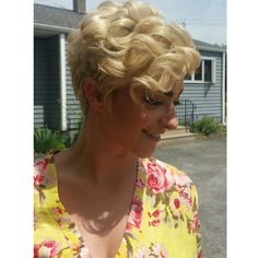 Short hair can be foramlly styled too! Heres on of our #shelleysalonanddayspa…