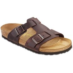 Riva in Habana $119.95 at ShoeMill.com #birkenstock #cork #leather #unique #comfy #summer #arch #support