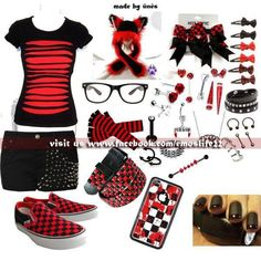 Red and black all out