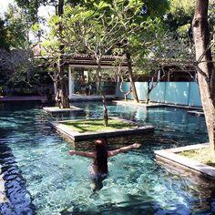 Kayumanis Nusa Dua Main pool picture courtesy of Swiming Pool, Swimming Pools Backyard, Pool Landscaping, Outside Pool, Pool Picture, Floor Wallpaper, Amazing Houses, Dream Pools, Rios