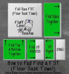 Flour Sack Towel - Pad Fold - Cloth Diapering