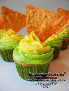 Mountain Dew and Doritos Cupcakes - not a combo you see everyday #FritoLayNoms #FritoLayFans