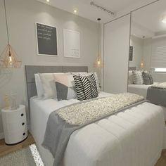 home decor inspo Couple Bedroom, Small Room Bedroom, Bedroom Colors, Home Decor Bedroom, Modern Bedroom, Girl Bedroom Designs, Master Bedroom Design, Cute Room Decor, Dream Rooms