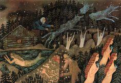 "Vera Pavlova, Illustration for a book: Alexei Remizov ""Posolon""."