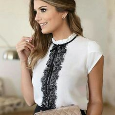 Swans Style is the top online fashion store for women. Shop sexy club dresses, jeans, shoes, bodysuits, skirts and more. Mode Outfits, Office Outfits, Fashion Outfits, Womens Fashion, Work Fashion, Fashion Looks, Fashion Design, Blouse Styles, Blouse Designs