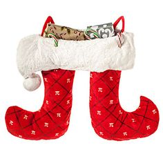 Pi Christmas Stocking with 2 feet for twice the stuffing