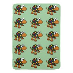 Funny Spotted Turtle Baby Blanket #turtles #baby #blankets #art #funny And www.zazzle.com/tickleyourfunnybone*