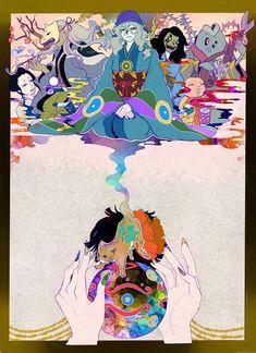 Mononoke (not the Studio Ghibli one) Mononoke Anime, Manga Anime, Anime Art, Character Art, Character Design, Hotarubi No Mori, Ap Studio Art, Ghibli Movies, Manga Games