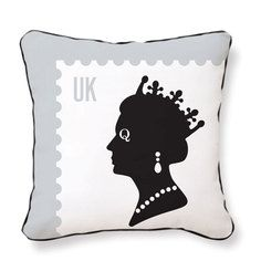 Queen Stamp Pillow, $29, now featured on Fab.