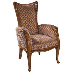 """Majorelle French Art Nouveau """"Fougères"""" Armchair 