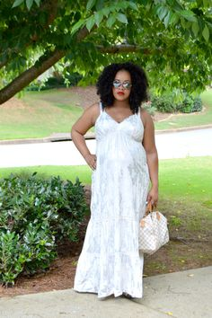 157f6c1495476 All white maternity look in white maxi dress from Target