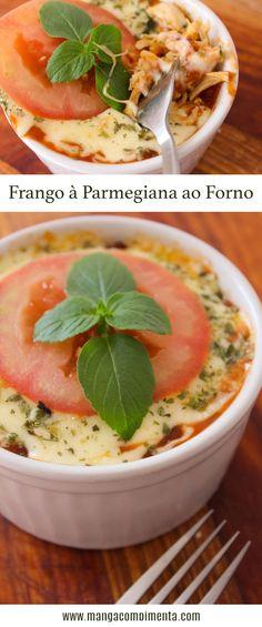 Frango à Parmegiana ao Forno - para um almoço especial durante a semana! #receita #comida #almoço #marmita #frango