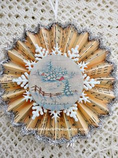 Creating Christmas Ornament Cards~