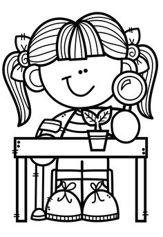 Colouring Pages, Coloring Sheets, Creative Clips, Science Clipart, Homeschool Worksheets, Book Labels, Clipart Black And White, Drawing For Kids, Coloring Pages For Kids