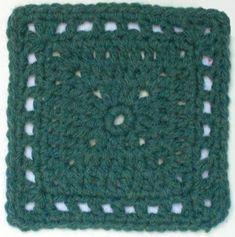 Free crochet afghan square pattern: Braggadocio