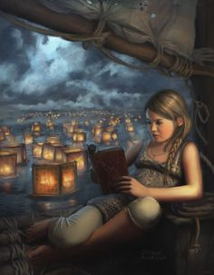 The Reading Girl. Stéphane Richard (French Contemporary). wootha on DeviantART.