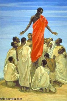 The Ascension: Art in the Christian Tradition African Jesus, Blacks In The Bible, Ascension Day, Jesus Art, Jesus Christ, Biblical Art, Black History Facts, African American Art, Christian Art